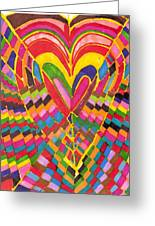 Busy Heart Greeting Card