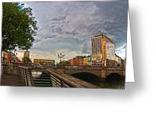 Busy O' Connell Bridge Greeting Card