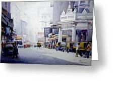 Busy Street In Kolkata Greeting Card