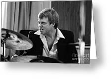 Butch Miles, Jazz Drummer Greeting Card