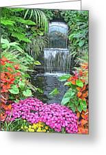 Butchart Gardens Waterfall Greeting Card