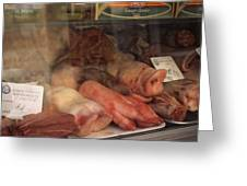 Butcher's Shop In Venice Greeting Card