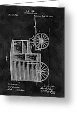 Butcher's Wagon Patent Greeting Card