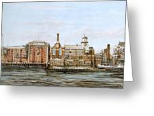 Butlers Wharf And Courage's Brewery Greeting Card