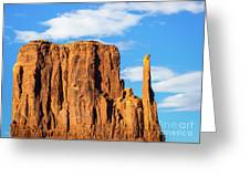 Butte And Clouds Greeting Card
