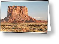 Butte, Monument Valley, Utah Greeting Card