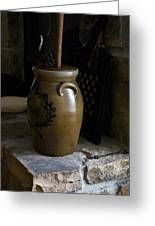Butter Churn On Hearth Still Life Greeting Card