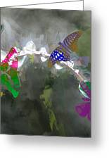 Butterflies And Dew Greeting Card