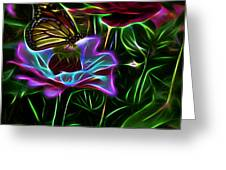 Butterflies And Flowers IIi Greeting Card