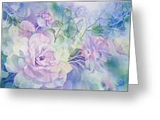 Butterflies-and-roses Greeting Card