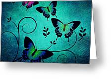 Butterflies At Dusk Greeting Card