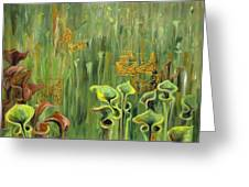 Butterflies In The Bog Greeting Card
