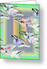 Butterflies In The Vortex Greeting Card