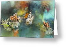 Butterflies On A Spring Day Greeting Card