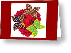 Butterflies On Roses Greeting Card