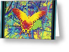 Butterfly All Aglow Greeting Card