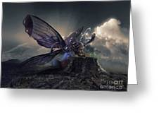 Butterfly And Caterpillar Greeting Card