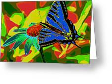 Butterfly Blues Greeting Card