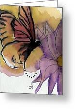 Butterfly Collecting Greeting Card
