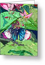 Butterfly Dining Greeting Card