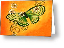 Butterfly Doodle Greeting Card