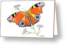 Butterfly Dressed For A Masquerade Ball Greeting Card
