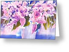 Pink Butterfly Flowers Greeting Card