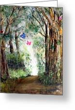 Butterfly Forest Greeting Card