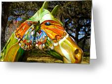Butterfly Horse Ocala Florida Greeting Card