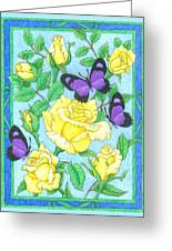 Butterfly Idyll-roses Greeting Card
