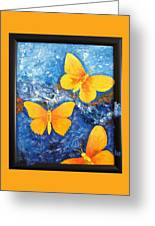 Butterfly In Blue 1 Greeting Card