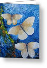 Butterfly In Blue 4 Greeting Card