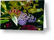 Butterfly In Garden Greeting Card