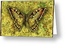 Butterfly In Golds-amber Collection Greeting Card