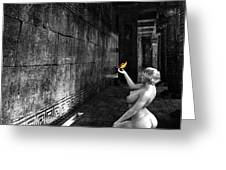 Butterfly In The Catacombs  2 Greeting Card