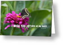 Butterfly Joy Quote Greeting Card