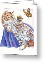 Butterfly Kitten Greeting Card