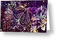 Butterfly Monarch Flower  Greeting Card