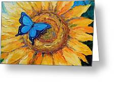 Butterfly On Sunflower Greeting Card