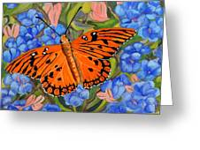 Butterfly Orange Greeting Card