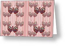 Butterfly Pattern Greeting Card