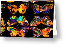 Butterfly Rows  Series 2 Greeting Card by Teodoro De La Santa