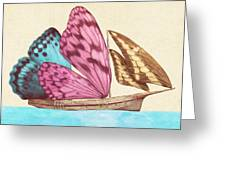 Butterfly Ship Greeting Card by Eric Fan