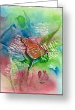 Butterfly W Print Greeting Card
