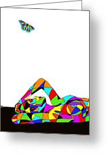 Butterfly With A Nude Greeting Card