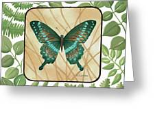 Butterfly With Leaves 2 Greeting Card