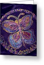 Butterfly With Stitches On Wings Greeting Card