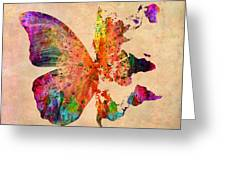Butterfly World Map  Greeting Card