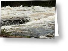 Buttermilk Falls Froth Greeting Card