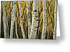 Buttery Birches Greeting Card